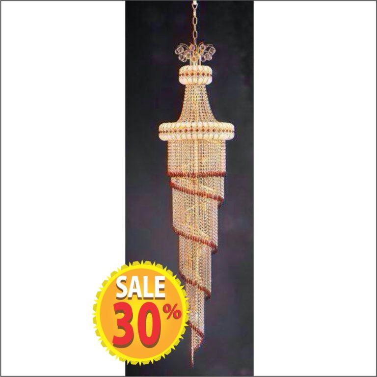 lampu gantung cristal tersedia di depo zahra bangunan